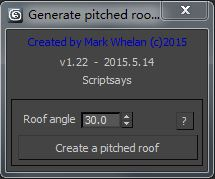 Generate pitched roof