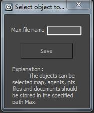 Select object to save